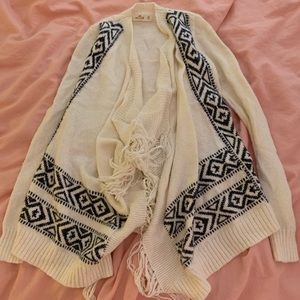 Black and white cardigan from hollister